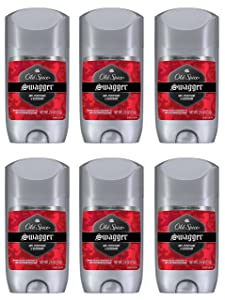 Old Spice Antiperspirant and Deodorant for Men, Red Zone Collection, Swagger Invisible Solid, Lime & Cedarwood Scent 2.6 Oz (Pack of 6)