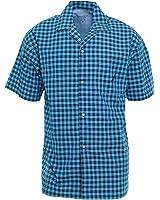 Nautica Sleepwear Mens Button Down Pajama Shirt Small Breezy Blue