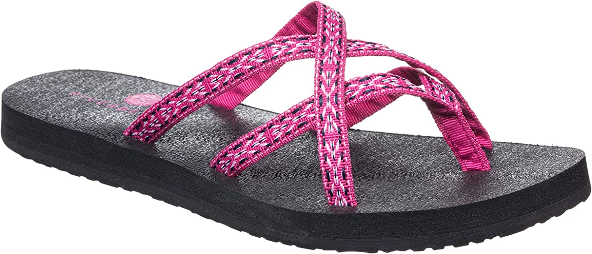 Amazon.com: Riverberry Kalea Criss - Chanclas para mujer con ...