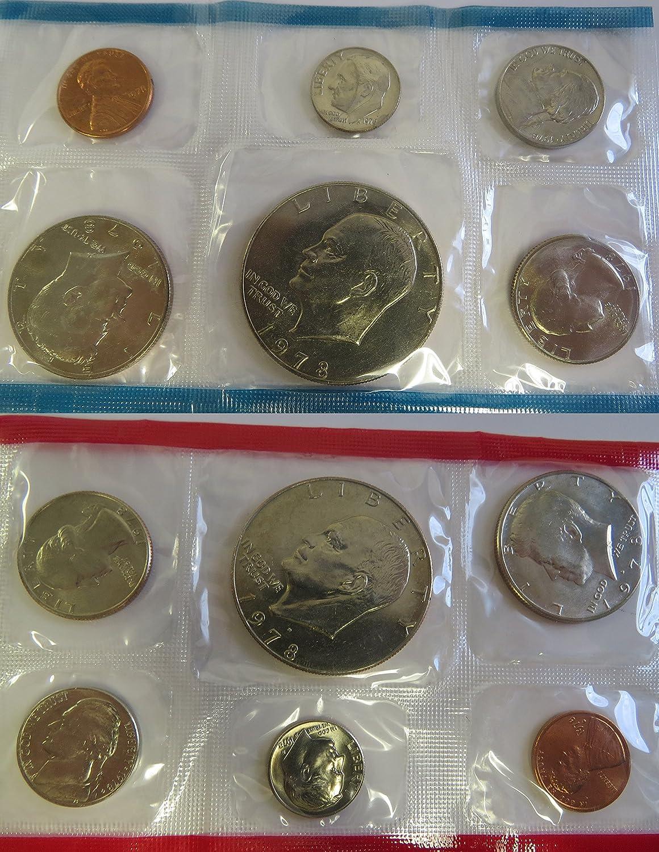1978 US Mint Uncirculated Coin Set 2 Eisenhower Dollars