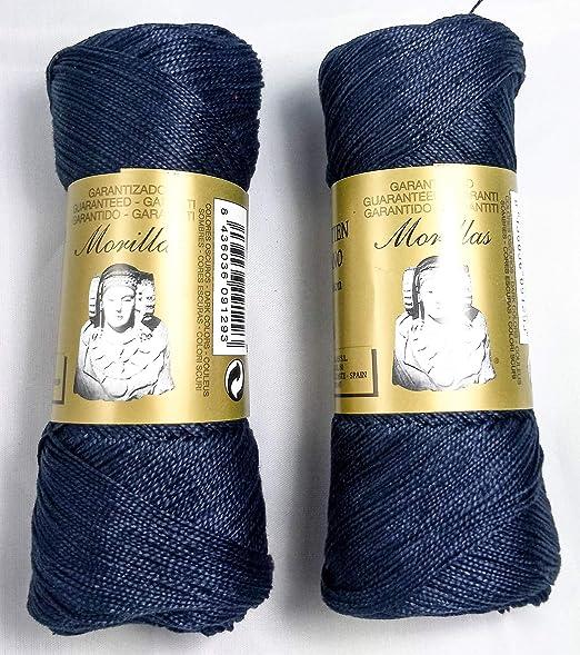 ▷ Pack de 2 Zepelines Ne 12/2 color marino 36 de algodón perlé ...