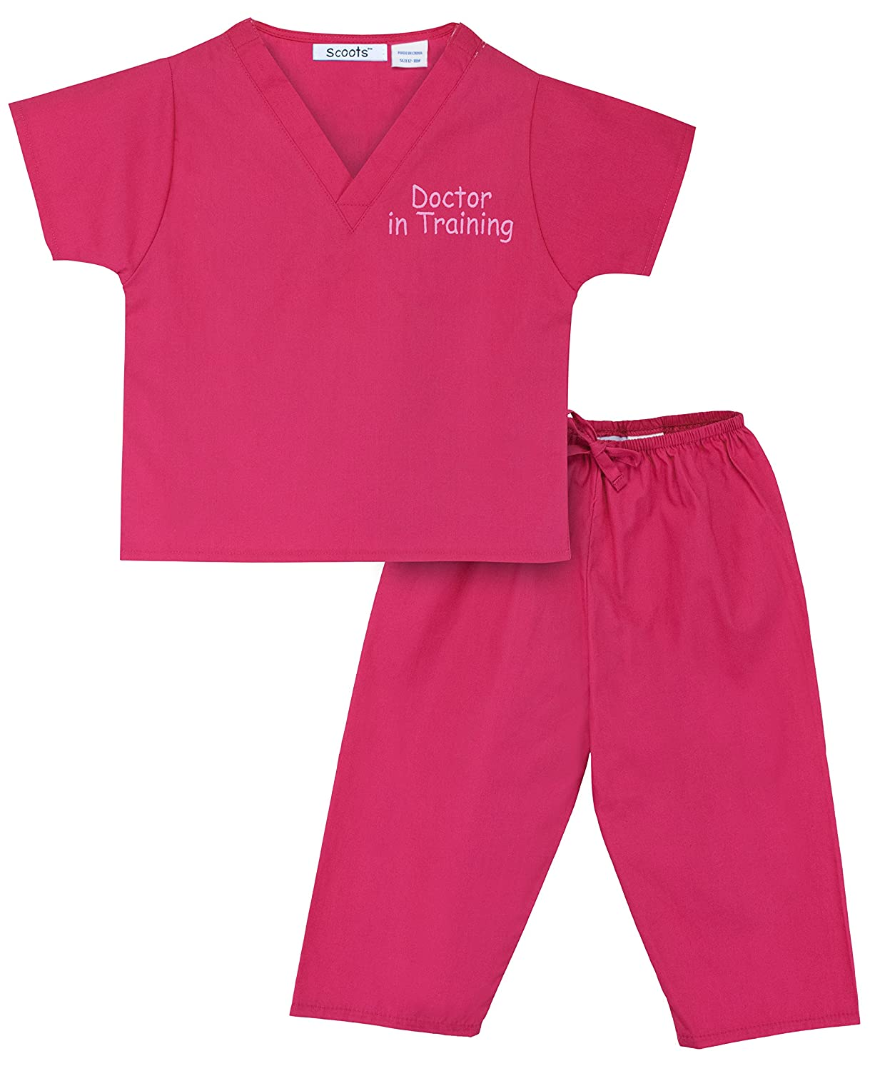 Scoots Kids Scrubs for Boys, Doctor In Training Embroidery SC11BSDRI
