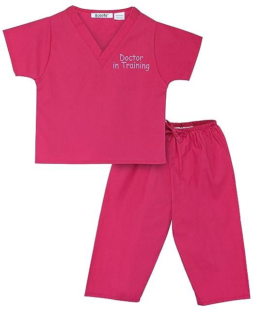 Halloween Doctor Scrubs Costume Light Pink Soft Baby One Piece