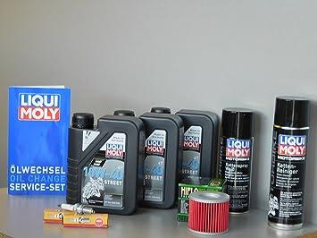 Mantenimiento Set Suzuki GS 500 E/F aceite de aceite Bujía ölwechsel Inspección: Amazon.es: Coche y moto