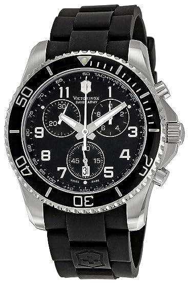 Victorinox VICT241431 - Reloj de Pulsera Hombre, Caucho, Color Negro