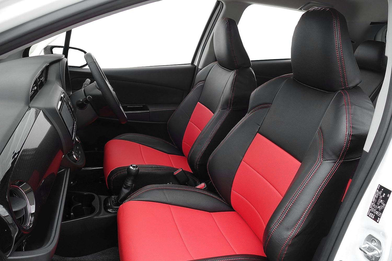 オートウェア シートカバー ■ ヴィッツ G's 専用 ●ブラック + 赤色 [品番:265G] ヴィッツ 130系 G's/GR [265G] B079H213G1