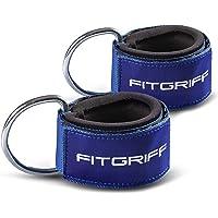 Fitgriff® Tobillera para Polea V2 (Acolchado)- 2 Piezas Correas Tobillos Gym Cable Maquinas, Gimnasio, Fitness - Mujeres…