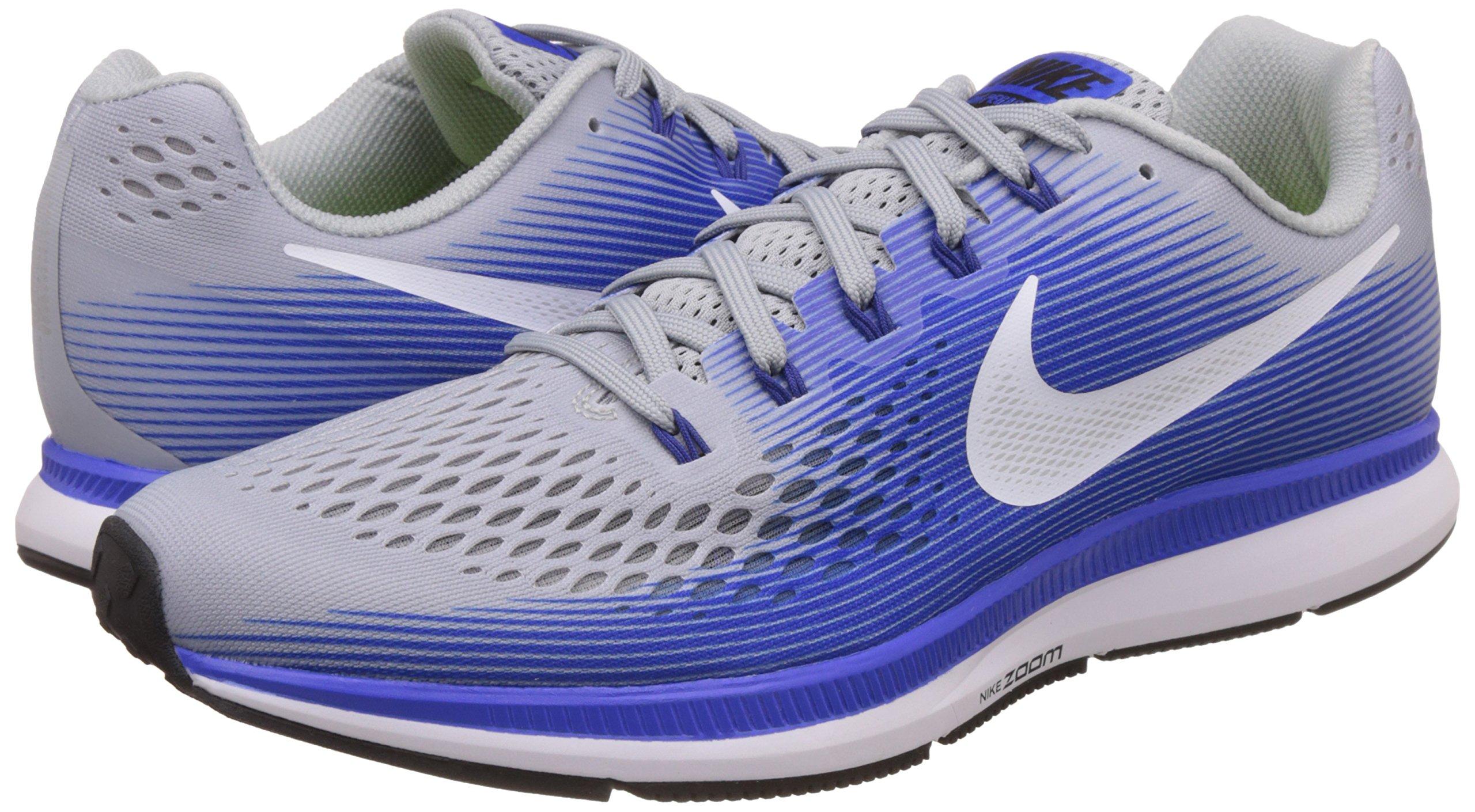 NIKE Mens Air Zoom Pegasus 34 Running Shoe (11 M US, Wolf Grey/White/Racer Blue) by Nike (Image #5)