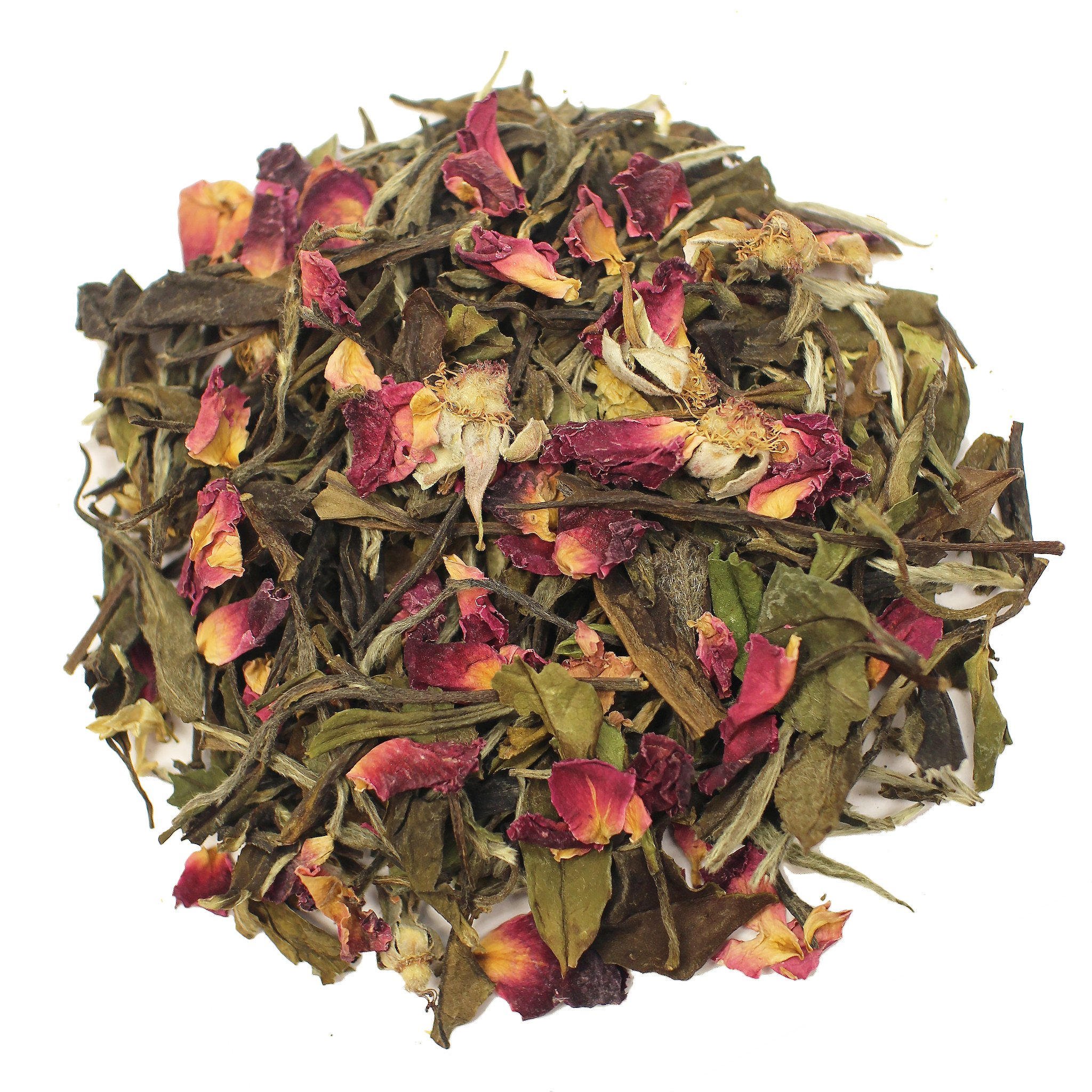 The Tea Farm - Rose White Floral Tea - Loose Leaf White Tea (8 Ounce Bag) by The Tea Farm