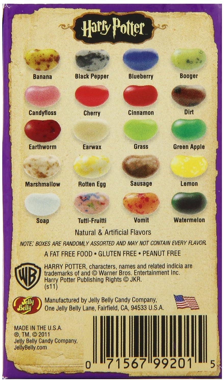 Bertie Botts Every Flavor Beans List