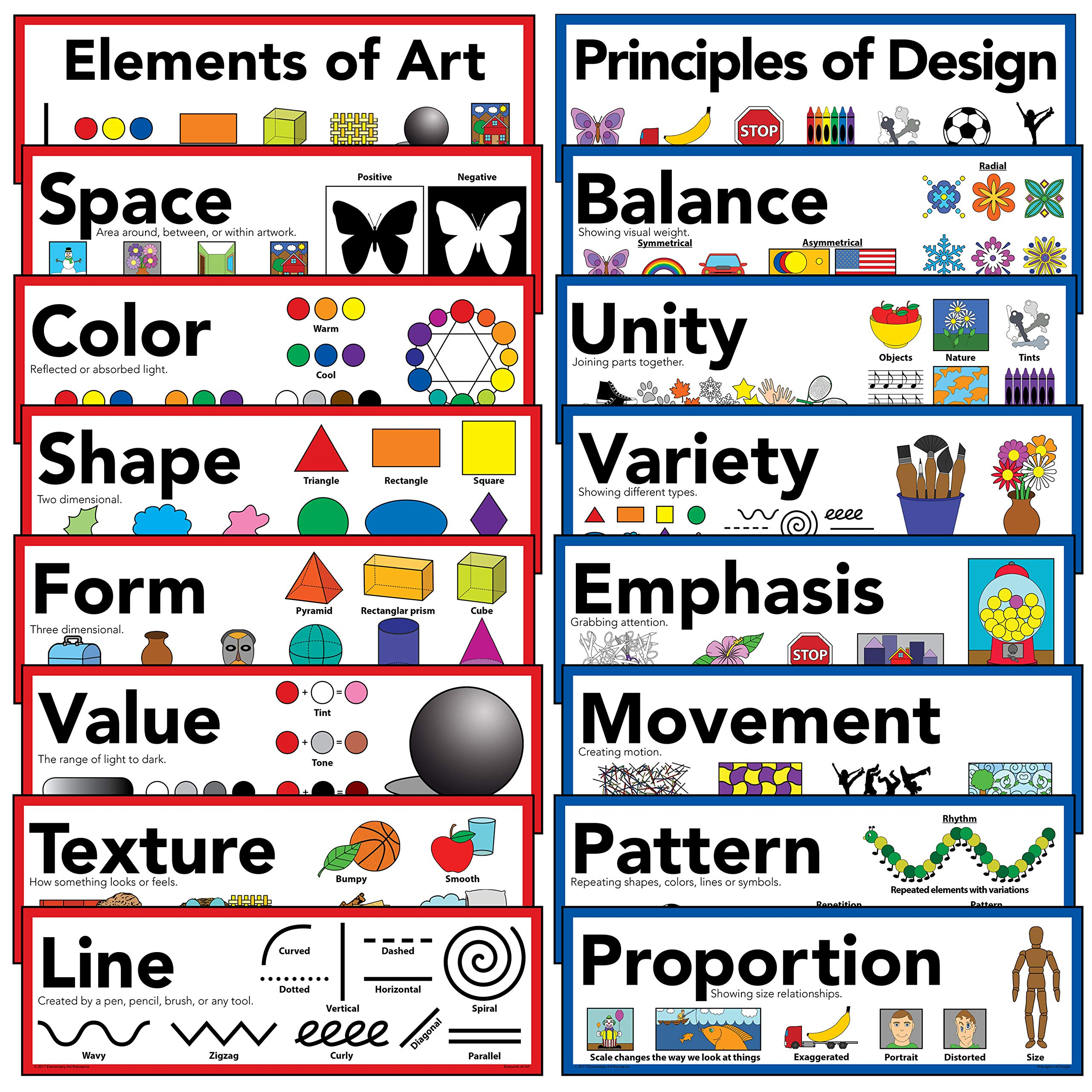 Elements Of Art Principles Of Design Art Poster 5 X 16 Set Of 16 Buy Online In Maldives Elementary Art Resources Products In Maldives See Prices Reviews And,Living Room Simple False Ceiling Design For Hall