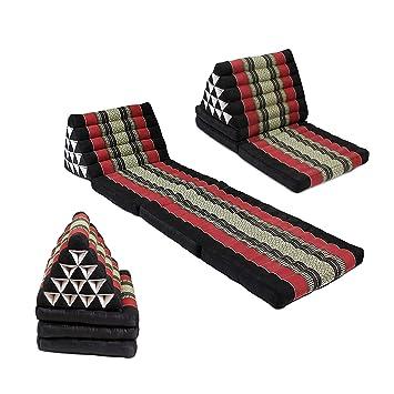 Tapis Triangle Pliage Thai Chaise Longue Kapok 180