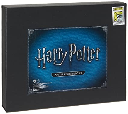 HARRY POTTER SDCC 2017 Exclusive - Pewter Key Rings - 5 Pc Set Novelty Accessories