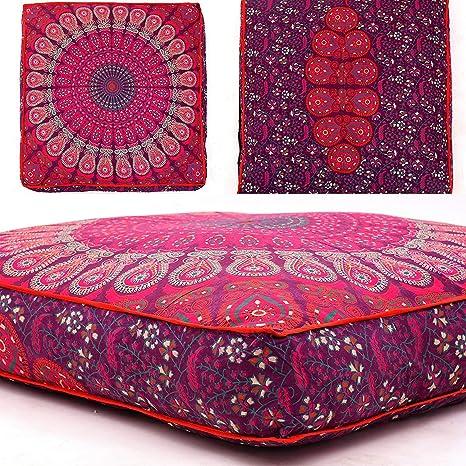 Amazon.com: Indian Cultura - Funda de almohada otomana de ...