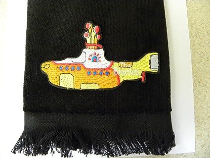 Amazon beatles yellow sub bath hand towel submarine vintage