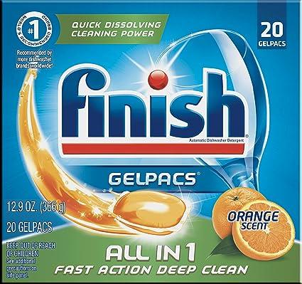 Amazon.com: Detergente lavavajilla Acabado paquetes de gel ...