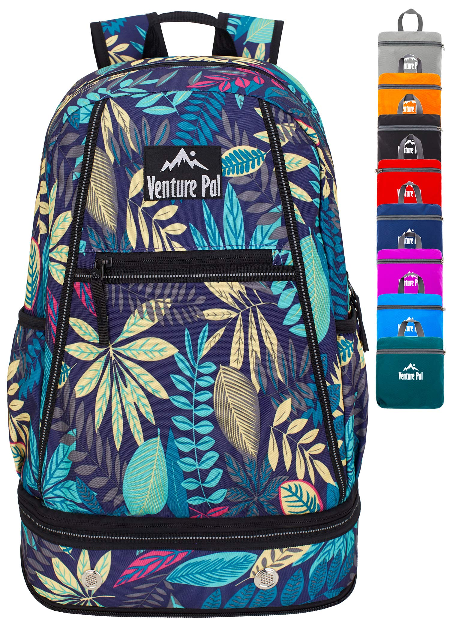 Venture Pal 35L Large Lightweight Packable Hiking Backpack with Wet Pocket & Shoes Compartment Travel Backpack & Day Backpack for Women Mens Girls Boys