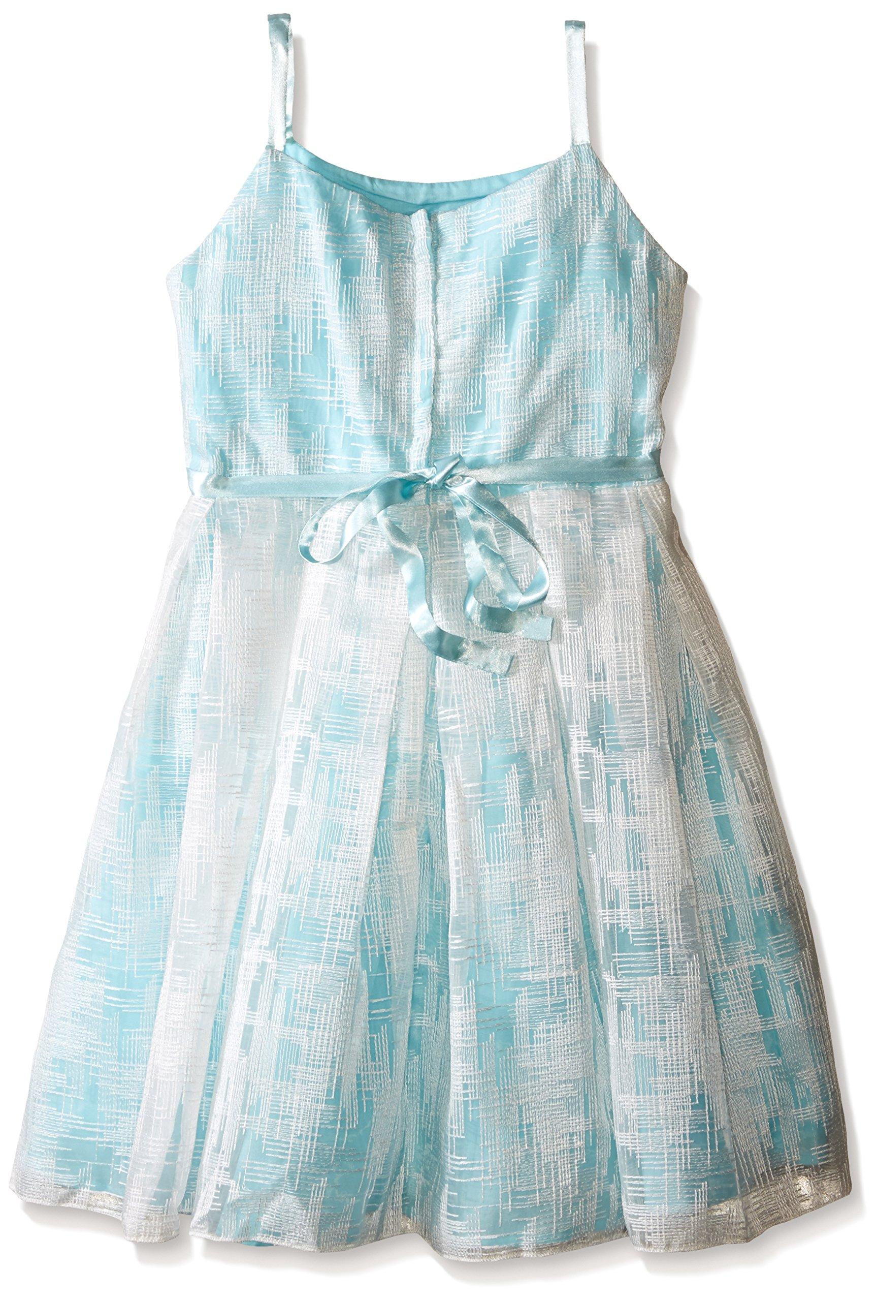 Biscotti Big Girls Tea Party Strappy Dress, Aqua, 7 by Biscotti (Image #2)