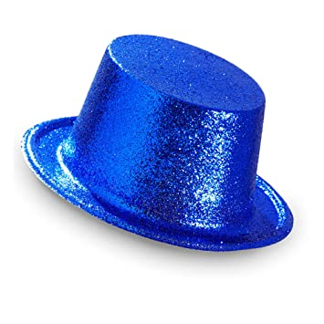 WIDMANN Adult Light Blue Glitter top hat   One Size  Amazon.co.uk ... 53a58f31627