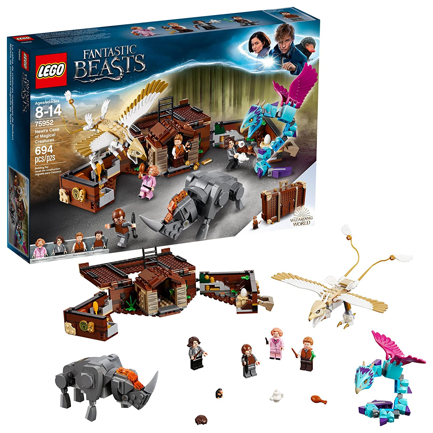LEGO Fantastic Beasts Newt's Case of Magical Creatures 75952 Building Kit (694 Piece) 6212639