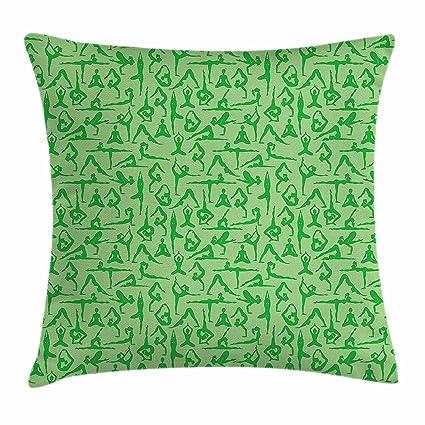 Amazon.com  Yoga Throw Pillow Cushion Cover 44bee49db
