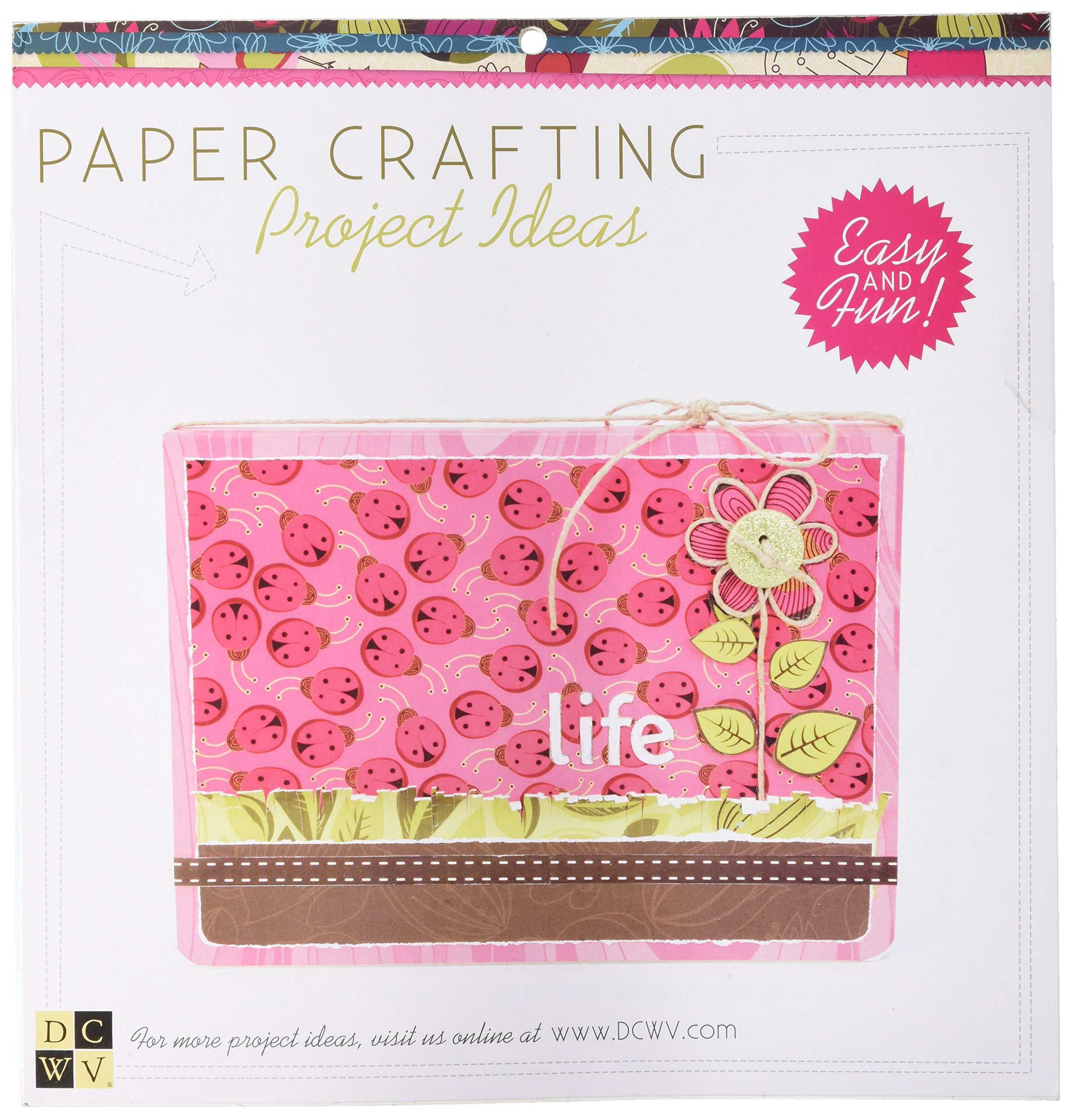 Diecuts With A View Paper Stack, 12 by 12-Inch, Whimsical, 48-Pack