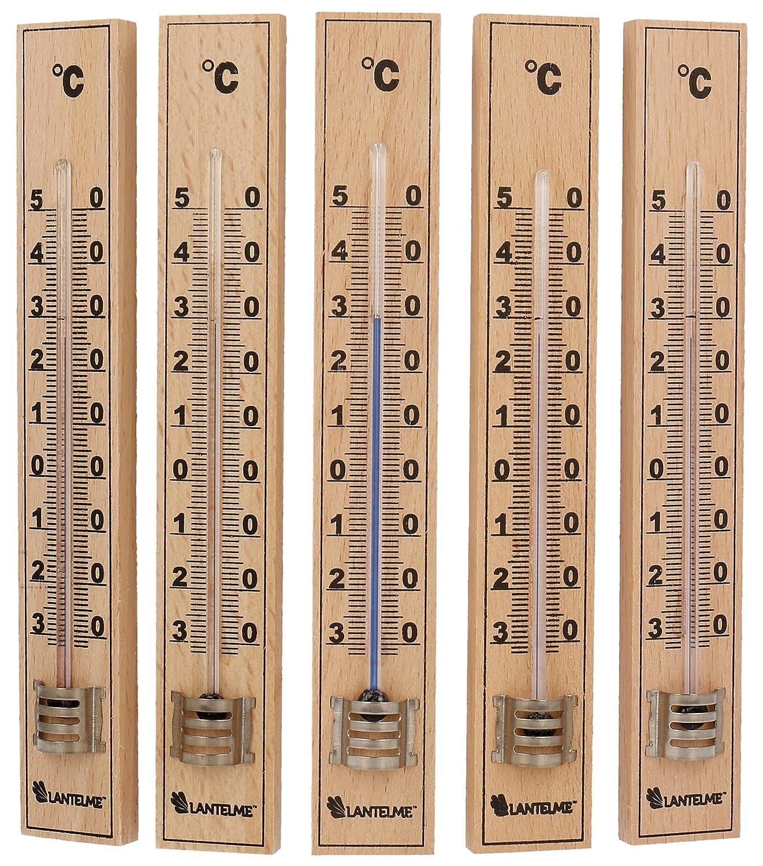 Term/ómetro de madera -40/° a +50/° C Silverline 490745