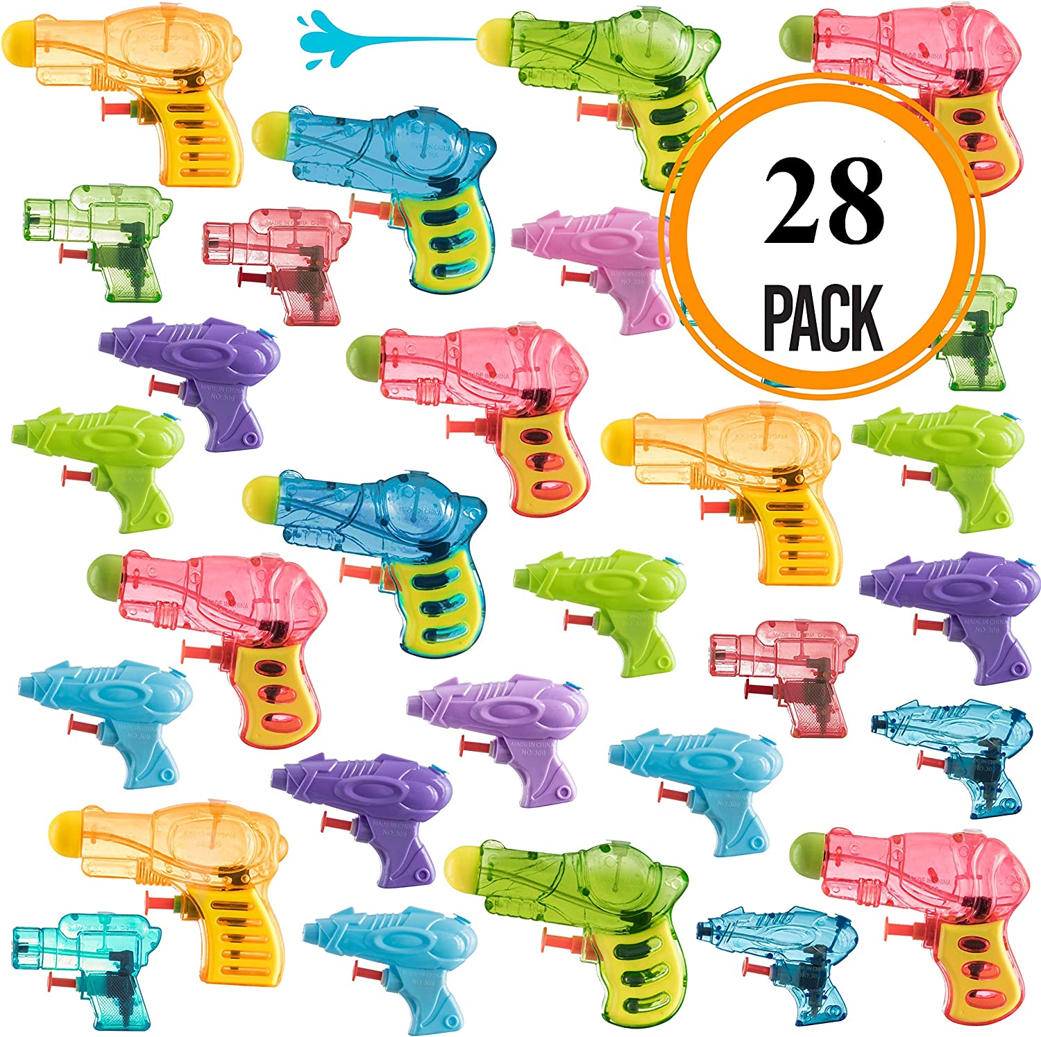 Pack of 28 Assorted Water Guns Pool Water Shooters and Water Blasters Combo Set of Water Squirt Toy: Toys & Games