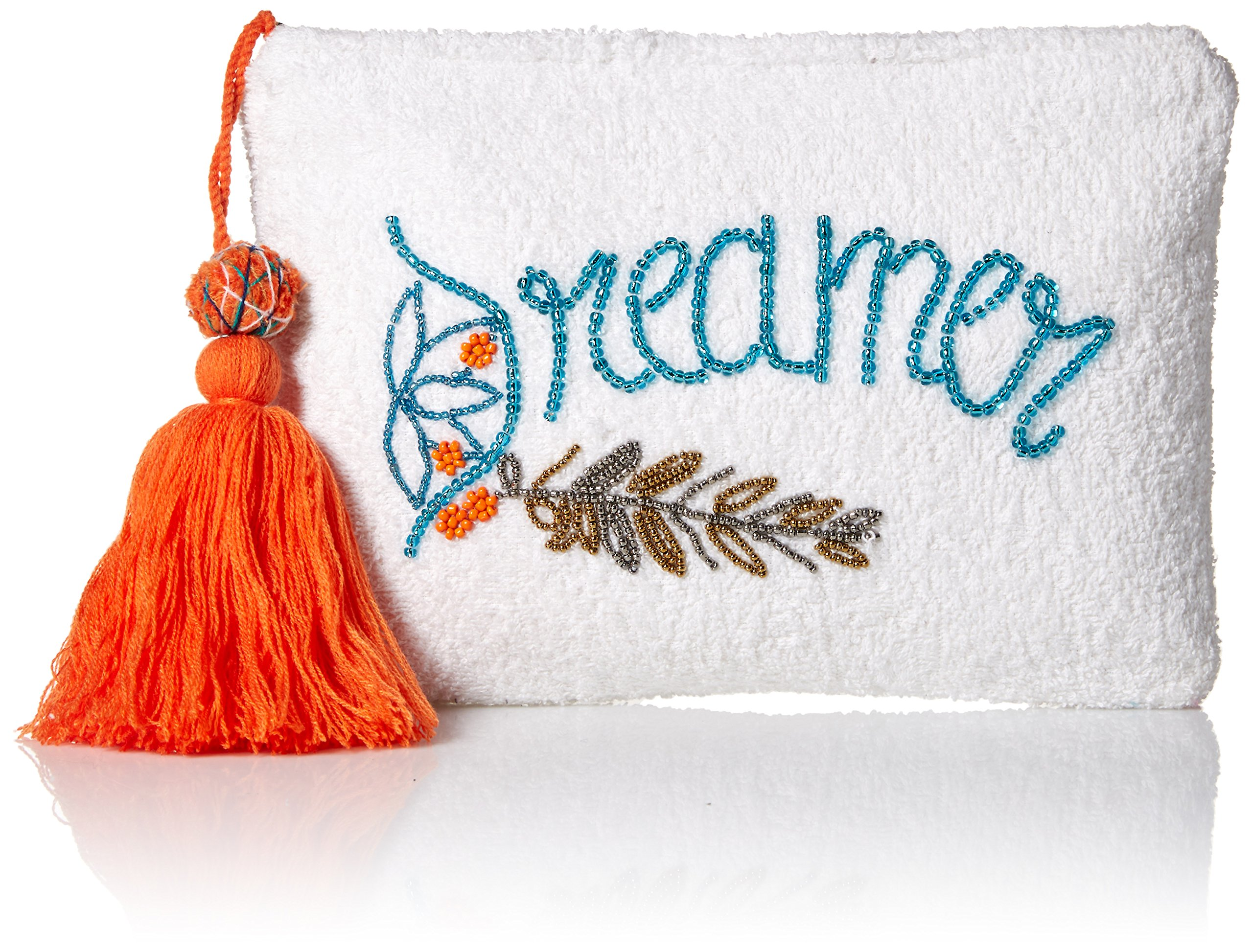 'ale by alessandra Women's Dreamer Plush Cotton Terry Cloth Clutch/Bikini Bag, grey One Size