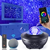 Galaxy Projector Star Projector, Star Light Projector for Bedroom with Music Speaker, Skylight Night Light with Timer & 10 Co