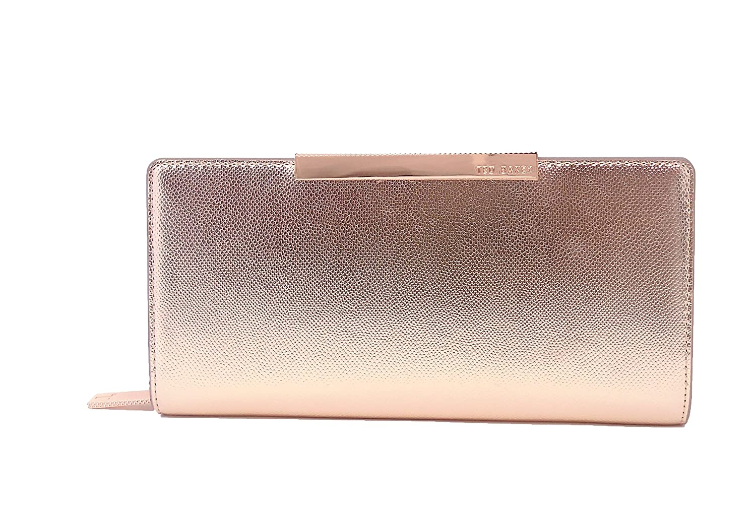 11d4812af Ted Baker Darrah Xhatch Textured Bar Zip Matinee Purse Rosegold   Amazon.co.uk  Luggage