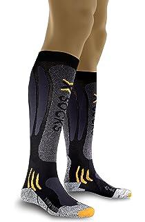 X-Socks Mototouring Long - Calcetines de deporte unisex, color negro y gris
