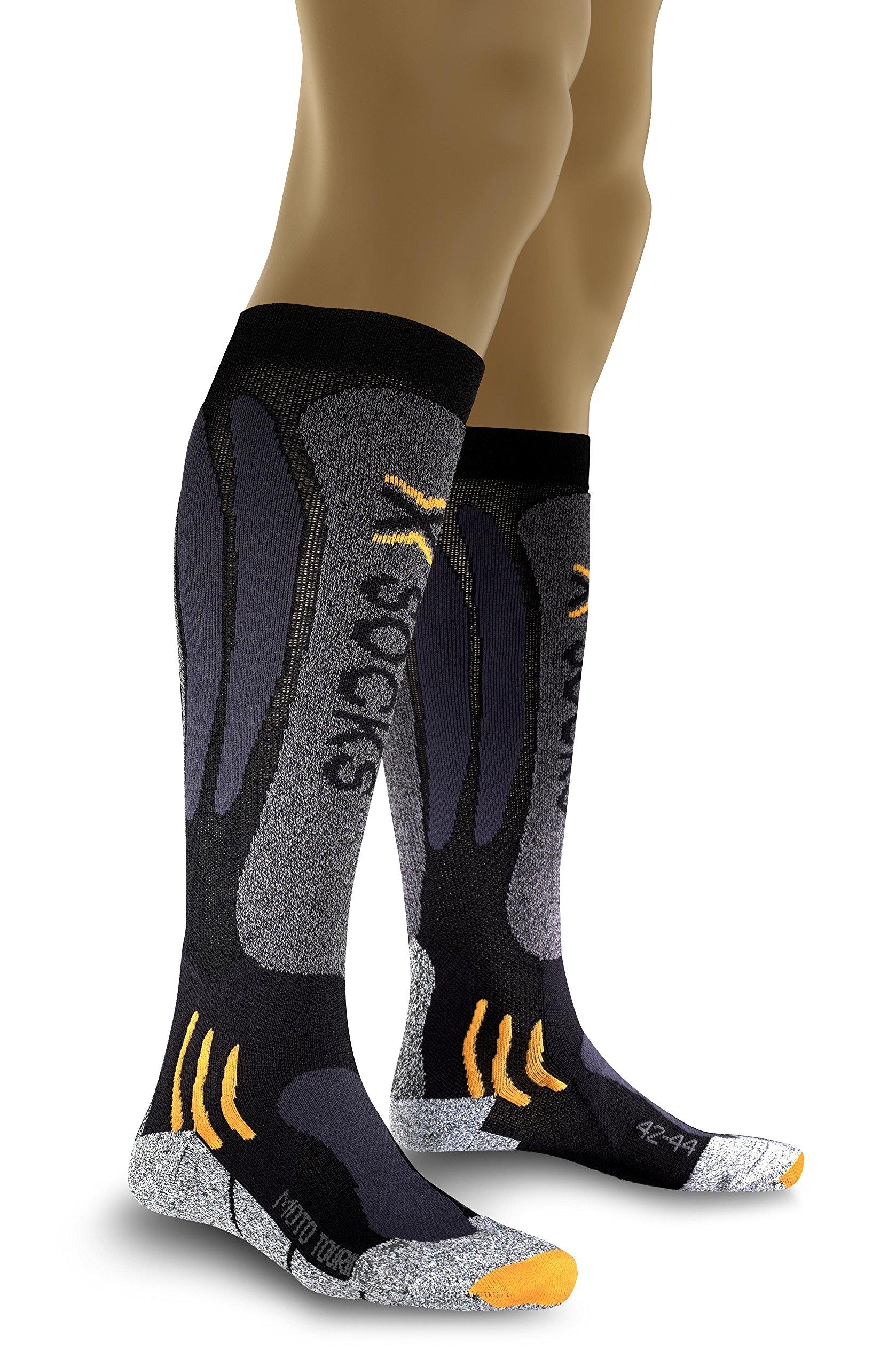 X-Socks Moto Touring long Black- Anthracite, Size:39/41