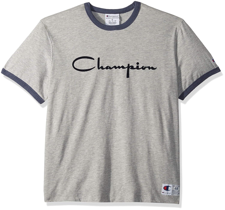 9528f76b1 Amazon.com: Champion Heritage Ringer Tee: Clothing