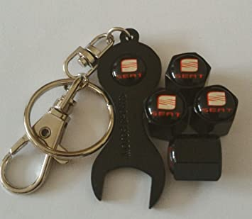 Set de tapones de válvula de color negro, con logotipo de ...