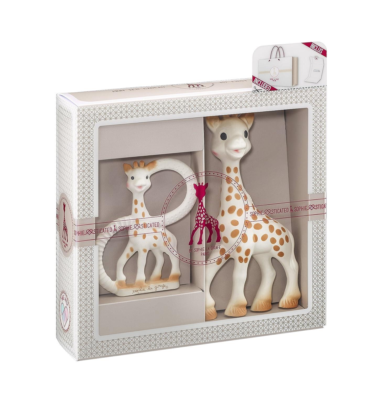 Vulli 000001 Geschenkset Geburt Sophie die Giraffe + Beißring, beige MOLEO Sp.z o.o.