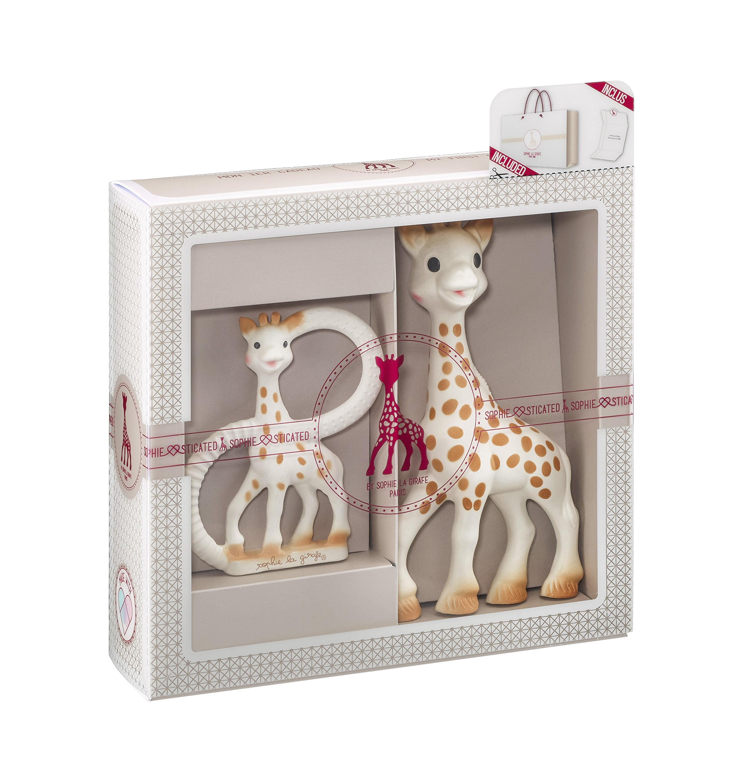 Vulli Sophie The Giraffe Sophiesticated Classical Creation Birth Gift Set Small #1- Teether & Toy by Calisson Inc- Systems Vulli