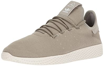 adidas Originals Men's PW Tennis HU Sneaker, Tech Beige/Tech Beige/Chalk  White