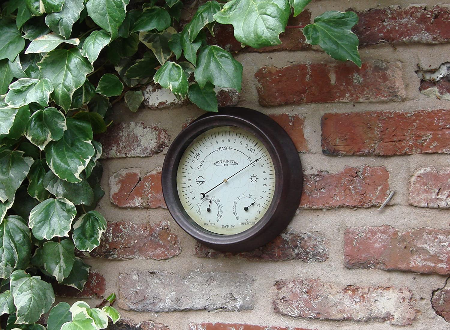 Outside In Designs 21cm Antique Rust Barometer DS1128