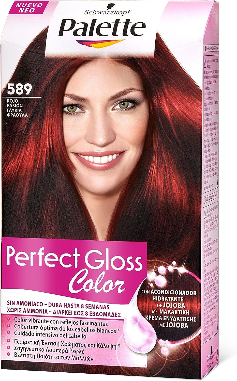 Palette Perfect Gloss 1862138 - Coloración semipermanente/baño de color, tono 589 - [paquete de 3]