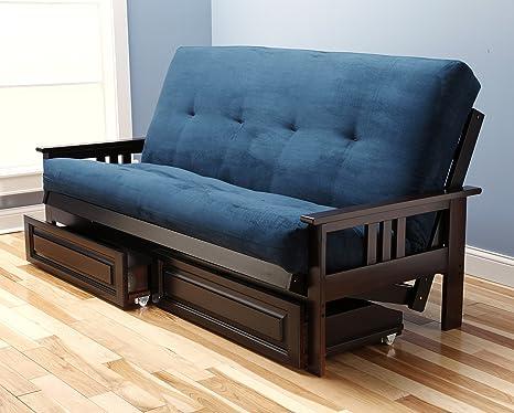 Amazon.com: Jerry Sales Marco de futón espresso Montreal ...