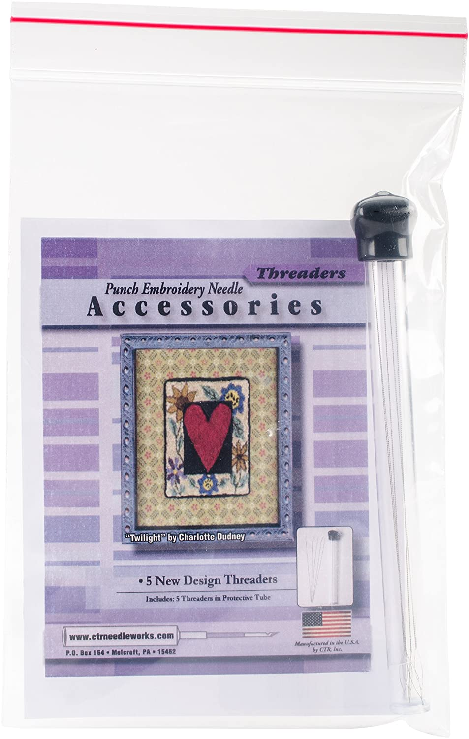 CTR Needleworks Punch Embroidery Needle Threaders-5/Pkg CTRNDLA1