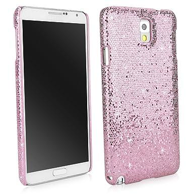 BoxWave Glamour & Glitz – Carcasa Samsung Galaxy Note 3 – Carcasa Trasera con Tapa con Purpurina diseño – Samsung Galaxy Note 3 Casos Princesa (Rosa)