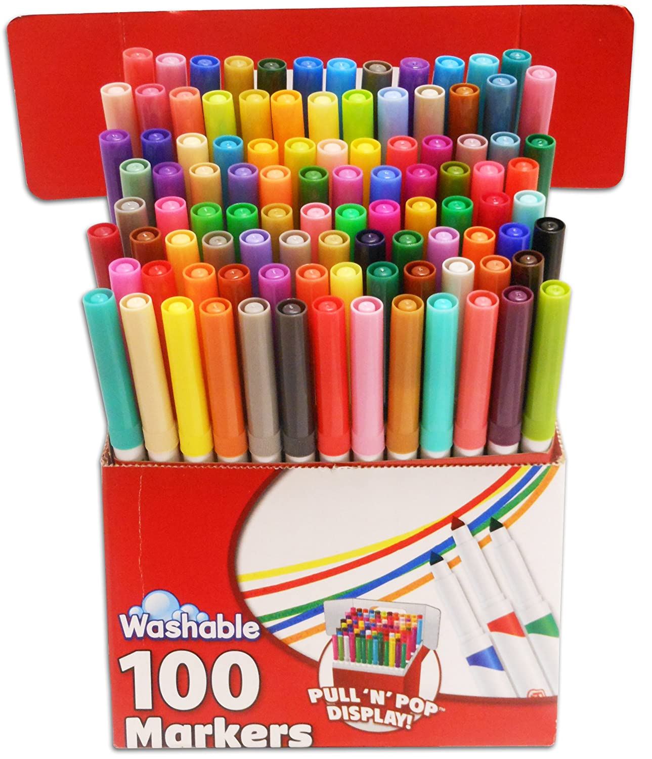 Art color markers - Amazon Com Roseart Supertip Assorted Color Washable Markers 100 Pack Office Products