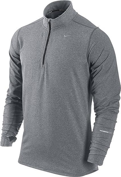 Nike Element T Shirt à manches longues 12 zip Homme
