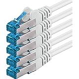 1,5m - CAT6a - Netzwerkkabel | weiss - 5 Stück | CAT 6a | S/FTP |doppelt geschirmt | PIMF | 500 MHz |kompatibel zu CAT 5 / CAT 6 / CAT 7 / DSL / Internet | 10/100/1000/10000Mbit/s | für Switch, Router, Modem, Patchpannel, Access Point, Patchfelder, X-Box, Spielkonsole, Smart TV