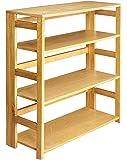 Regency Flip Flop 34-inch High Folding Bookcase- Medium Oak