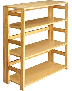 regency flip flop 34inch high folding bookcase medium oak - Folding Bookcase