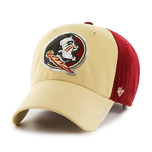 best service a10a6 b1d1b  47 NCAA Florida State Seminoles Women s Sparkle Two Tone Clean Up  Adjustable Hat, One