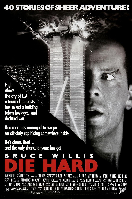 Die Hard (1988) Movie Poster Bruce Willis 24x36